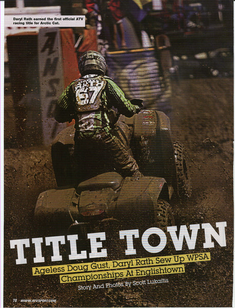 ATV Sport Magazine December 2006. Lead image into 6 page article.