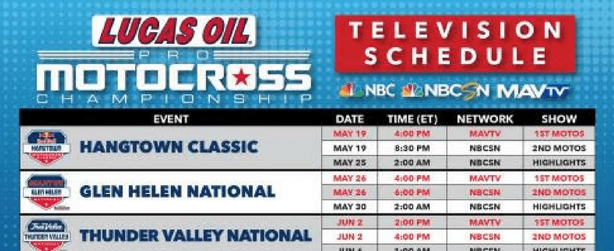 36 Hours of Live Coveragefor 2018 Lucas Oil Pro Motocross Championship