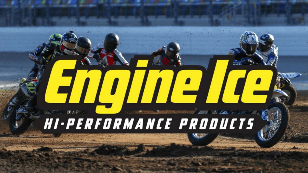 AFT NAMES ENGINE ICE THE OFFICIAL COOLANT AND ANTIFREEZE OF AMERICAN FLAT TRACK